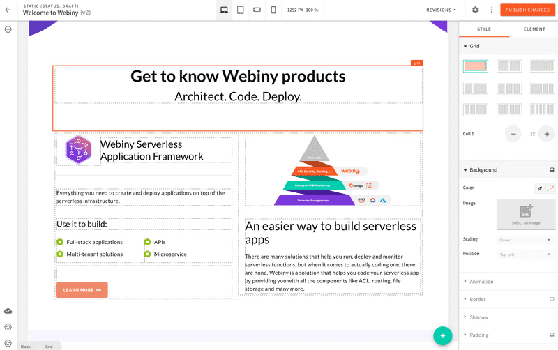 Webiny Page Builder