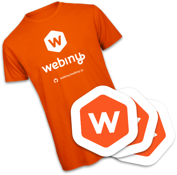 Webiny SWAG - Shirt and Stickers